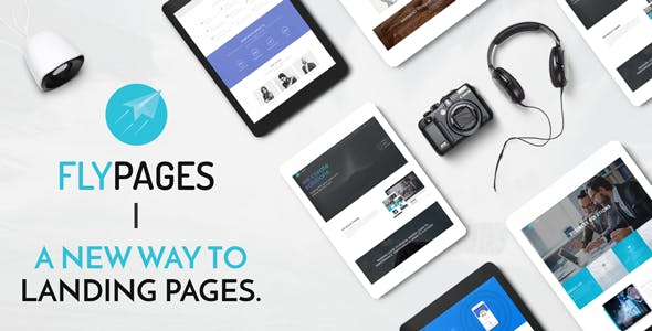 FlyPages - WordPress One Page Responsive Template with Builder
