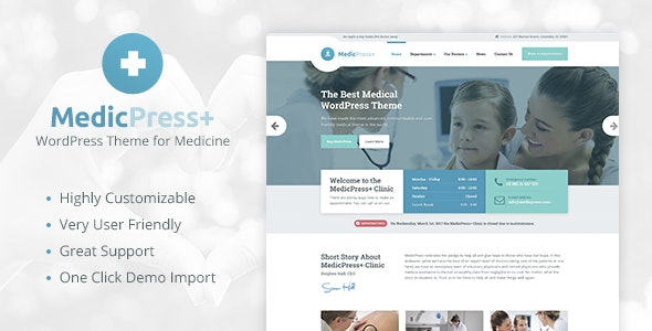 MedicPress - Medical WordPress Theme for Clinics and Private Doctors - Health & Beauty Retail