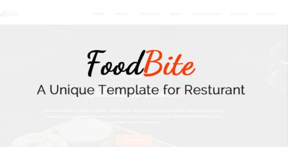 FoodBite-html restaurant template - Food Retail