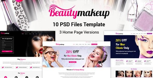 Beauty Makeup - Multipurpose Salon PSD Template - Health & Beauty Retail