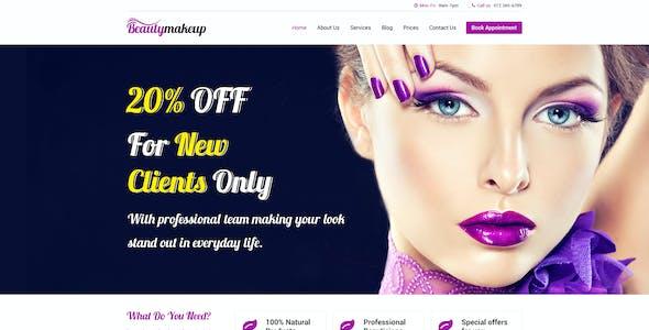 Beauty Makeup - Multipurpose Salon PSD Template