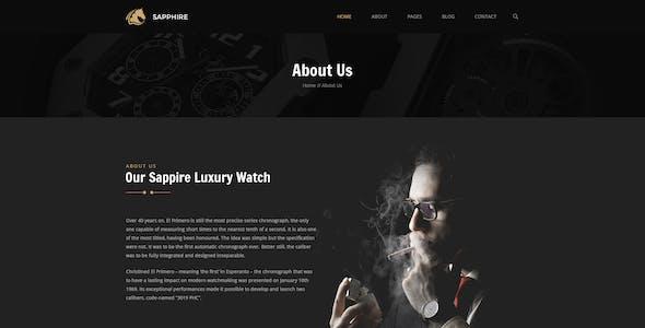 Sapphire - Luxury Watch Retail PSD Template