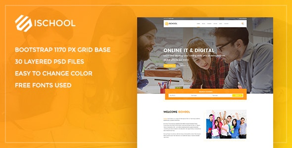 iSchool – Education PSD Template - Business Corporate