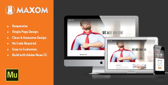 MAXOM - Creative Multi-Purpose Muse Template - Muse Templates