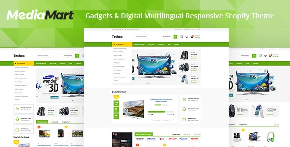 MediaMart - Electronic, Computer, Gadgets & Digital Multilingual Responsive Shopify Theme - Technology Shopify