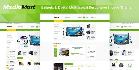 MediaMart - Electronic, Computer, Gadgets & Digital Multilingual Responsive Shopify Theme