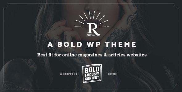 Regular - Writing, Content, Blog & Magazine Theme for WordPress - Blog / Magazine WordPress