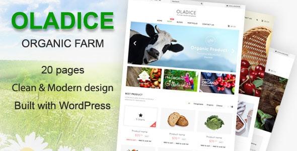 Oladice - Organic Farm WordPress Theme - Health & Beauty Retail
