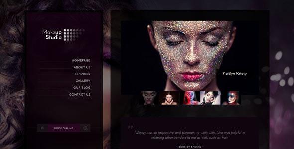 Makeup   Barbershop HTML Template - Health & Beauty Retail