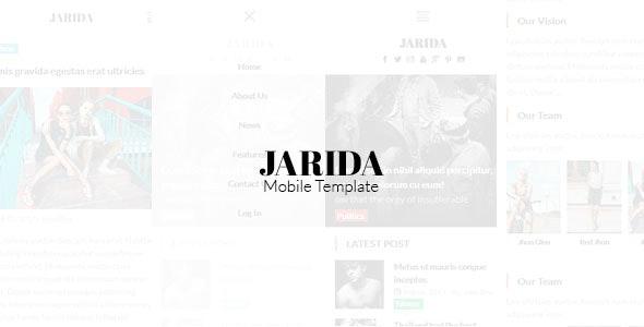 Jarida - Magazin Mobile Template - Mobile Site Templates