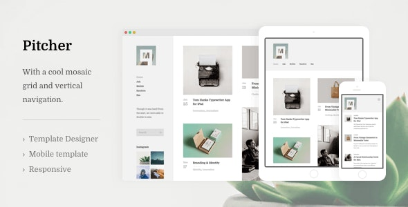 Mocha: Grid-Based Portfolio Template - Blogger Blogging