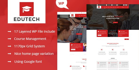Edutech - Education WordPress Theme