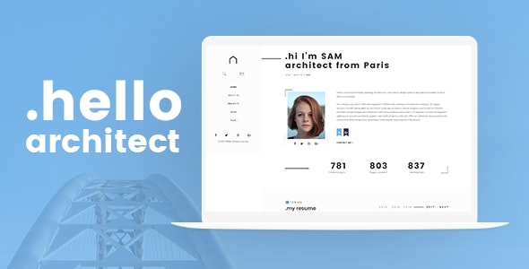 Architect - Architecture PSD Template - Portfolio Creative