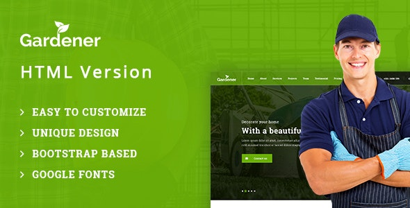 Gardener – Gardening and Landscaping HTML Template - Business Corporate