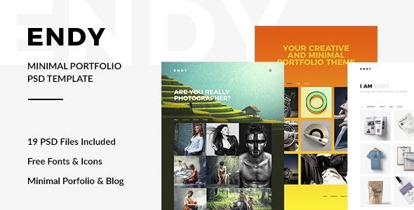 Endy — Minimal Portfolio PSD Template - Portfolio Creative