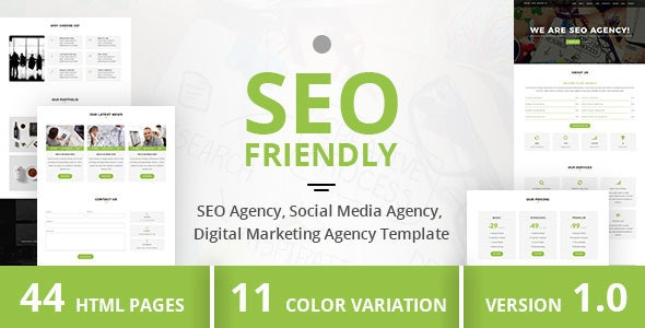 SEO Friendly - SEO Agency, Social Media Agency, Digital Marketing Agency Template - Marketing Corporate