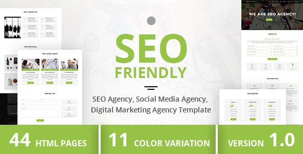 Seo Friendly Html Website Templates From Themeforest