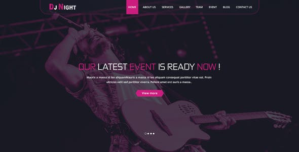 DJ Night - Event, DJ, Party, Music Club HTML Template