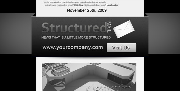 Structured Mail - Newsletters Email Templates