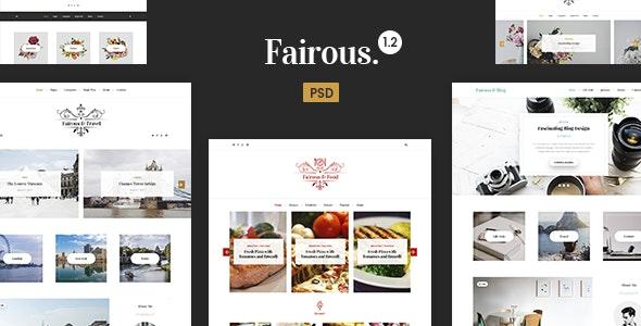 Fairous - Blog PSD Template - Photoshop UI Templates