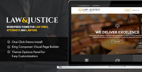 Law&Justice: Law Firm, Lawyers & Attorneys WordPress Theme - Business Corporate