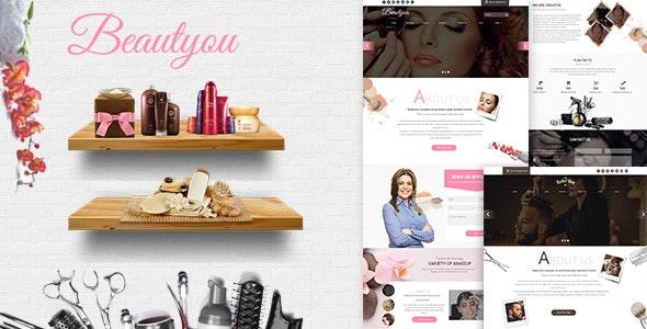 Beautyou - Hair Salon Barber Shop - Photoshop UI Templates