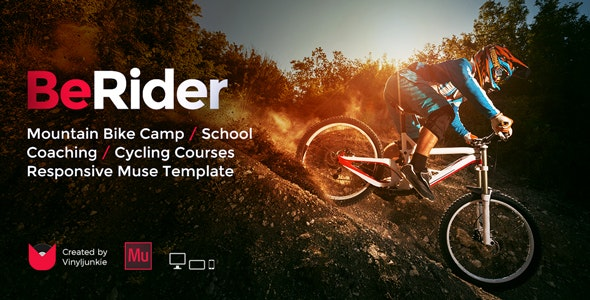 BeRider - Mountain Bike School / MTB Camp / Cycling Courses Responsive Muse Template - Miscellaneous Muse Templates