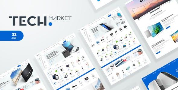 TechMarket - Electronics eCommerce PSD