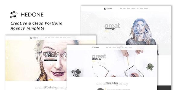 Hedone - Creative & Clean Portfolio / Agency Template - Creative Site Templates