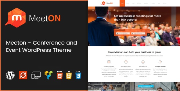 Meeton - Conference & Event WordPress Theme - Events Entertainment