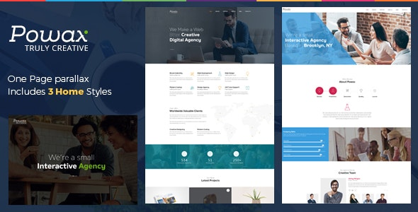 Powax - One Page Parallax - Creative Site Templates