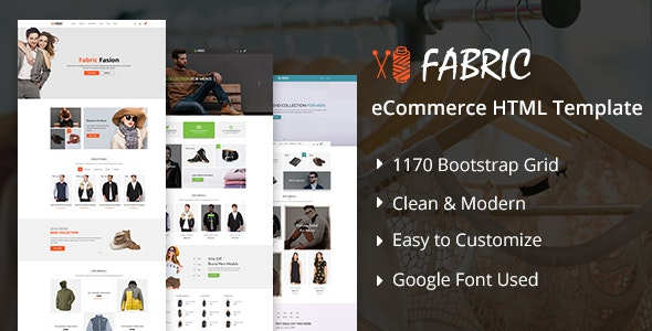 Fabric - Bootstrap eCommerce Website Template by BootScore | ThemeForest