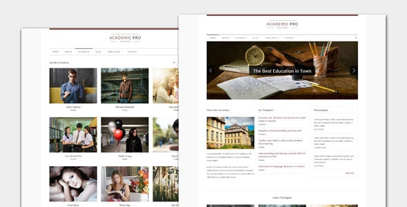 Academic - Modern Education WordPress Theme - Education WordPress