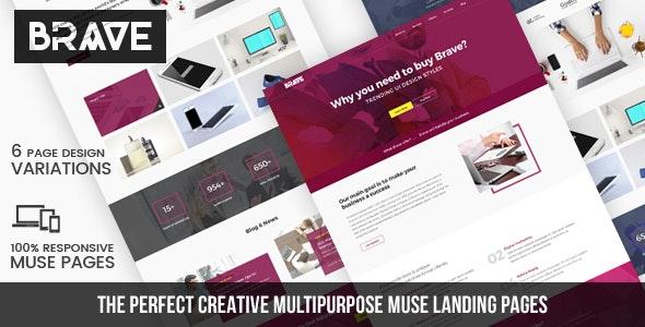 Brave - Creative Multipupose Muse Templates - Creative Muse Templates