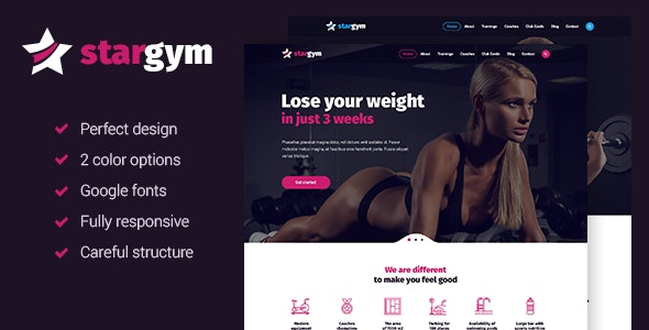 Stargym - Fitness Sport Club and Gym HTML5 Template - Health & Beauty Retail