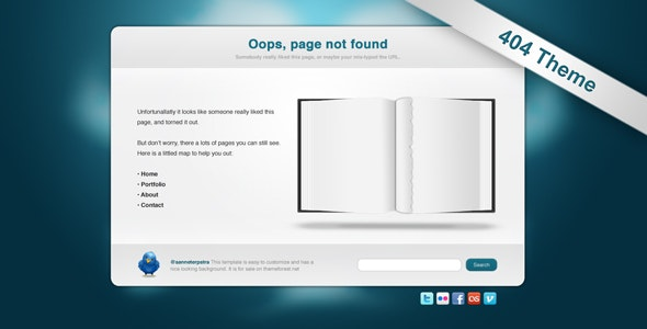 Torned Out - 404 Template - 404 Pages Specialty Pages