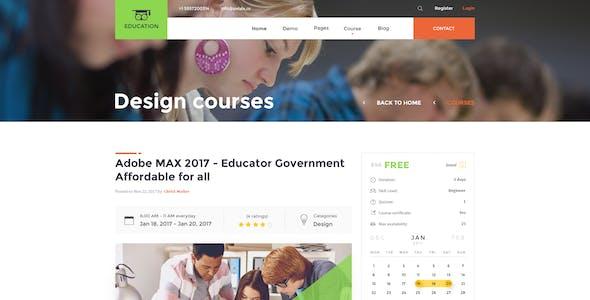 Education – Education PSD Template