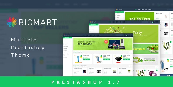 Leo Bicmart Multiple Prestashop Theme for Electronics   Food   Drink   Technology   Mobile   Fresh - Technology PrestaShop