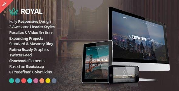 Royal - Responsive One Page Parallax WordPress Theme
