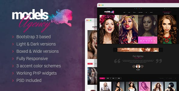 Model Portfolio Website Templates from ThemeForest