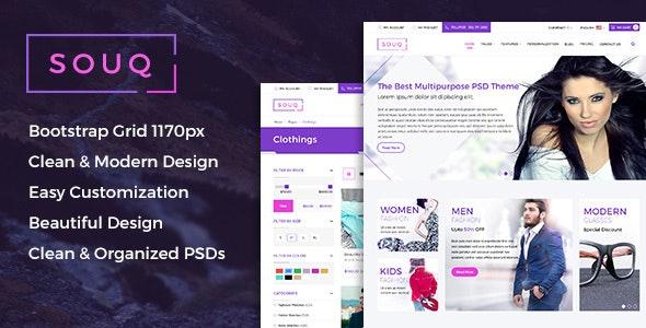 Souq - E-Commerce PSD Template - Retail Photoshop