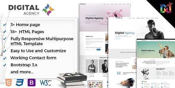 Responsive HTML Multipurpose Template - Digital Creative Agency - Creative Site Templates