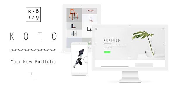 Koto - Design & Artist Portfolio Theme - Portfolio Creative