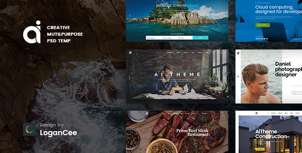 AI | Creative Multipurpose PSD Template - Photoshop UI Templates