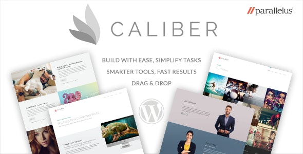 Responsive WordPress Theme - Caliber - Marketing Corporate