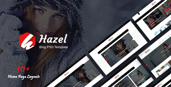 Hazel - Personal Blog PSD Template - Personal Photoshop