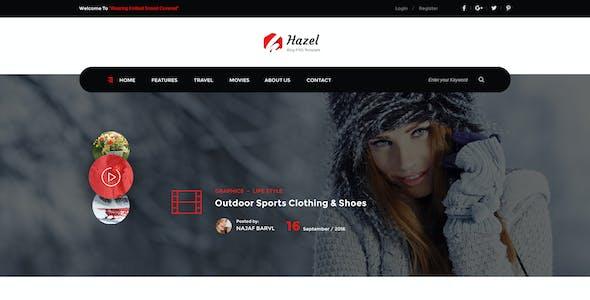 Hazel - Personal Blog PSD Template