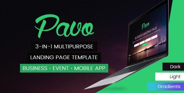 Pavo - Multipurpose Landing Page Template - Landing Pages Marketing