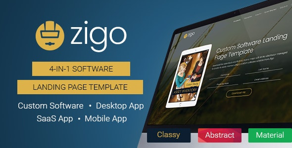 Zigo - Software Landing Page Template - Software Technology