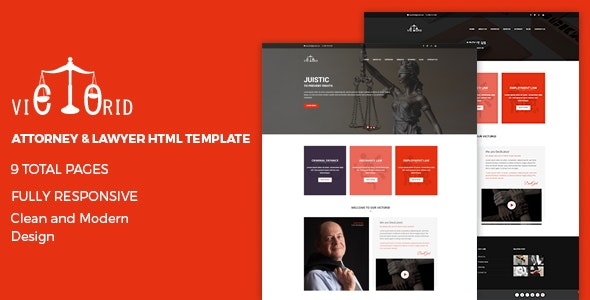 Attorney & Lawyer HTML5 Template - Victorid - Business Corporate